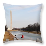 The Red Coat Throw Pillow