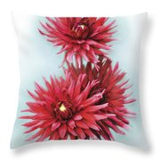 The Red Dahlia Throw Pillow