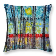 The Red Dock Throw Pillow