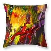 The Red Dog Throw Pillow