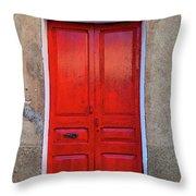 The Red Door. Throw Pillow