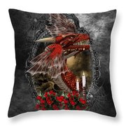 The Red Dragon Throw Pillow