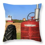 The Red Farmall Throw Pillow