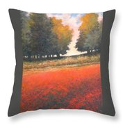 The Red Field #2 Throw Pillow