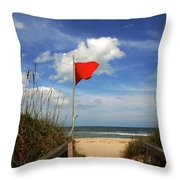 The Red Flag Throw Pillow