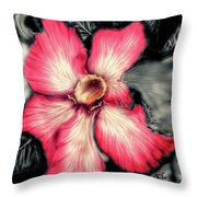 The Red Flower Throw Pillow by Darren Cannell