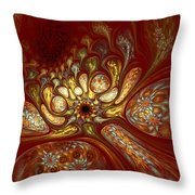 The Red Forest Throw Pillow