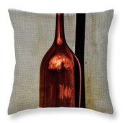 The Red Glass Bottke Throw Pillow
