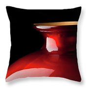 The Red Glass Vase Throw Pillow