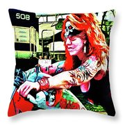 The Red Headed Slut Throw Pillow