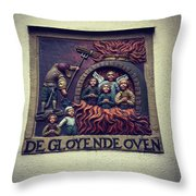 The Red Hot Oven Throw Pillow