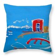 The Red House  La Casa Roja Throw Pillow