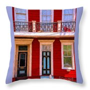 The Red House-nola-faubourg Marigny Throw Pillow