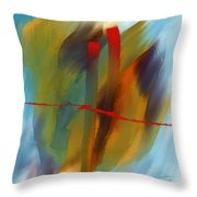 The Red Line Throw Pillow