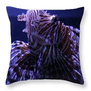 The Red Lionfish Throw Pillow