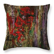 The Red Mask Throw Pillow