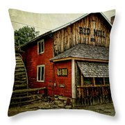 The Red Mill Throw Pillow