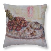 The Red Onion Throw Pillow