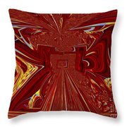 The Red Palace In Abstract Throw Pillow