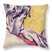 The Red Pillow Throw Pillow