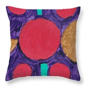 The Red Planets Throw Pillow