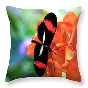 The Red Postman 1 Throw Pillow