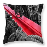 The Red Rail Throw Pillow