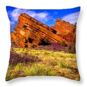 The Red Rock Park Vi Throw Pillow