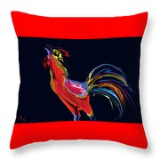 The Red Rooster Throw Pillow