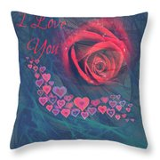 The Red Rose Of Love Throw Pillow