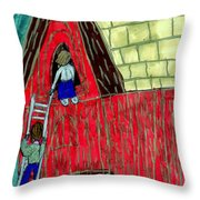 The Red Shed Club House That Dad Built Throw Pillow