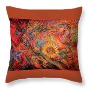 The Red Sirocco Throw Pillow