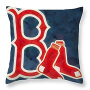 The Red Sox Throw Pillow