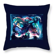 The Red Stars Of Paradise Throw Pillow