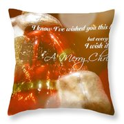 The Red Suit Quote Throw Pillow