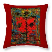 The Red Tree -or- Paint Throw Pillow