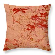 The Red Vine Throw Pillow