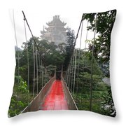 The Red Way In Throw Pillow