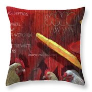 The Red Wheelbarrow Throw Pillow