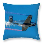 The Red, White And Blue Throw Pillow
