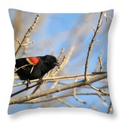 The Red Wing Throw Pillow