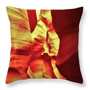 The Reddish Yellow Path Throw Pillow