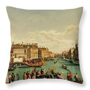 The Redentore Feast In Venice Throw Pillow