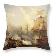 Unknown Title Sea Battle Throw Pillow
