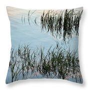 The Reeds Throw Pillow