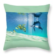 The Reef Throw Pillow by Corey Ford