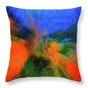 The Reef In Watercolor Abstract Throw Pillow