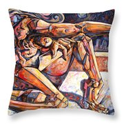 The Reflection Of The Muse Throw Pillow
