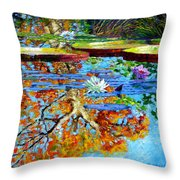 The Reflections Of Fall Throw Pillow