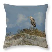 The Regal Great Blue Heron Throw Pillow